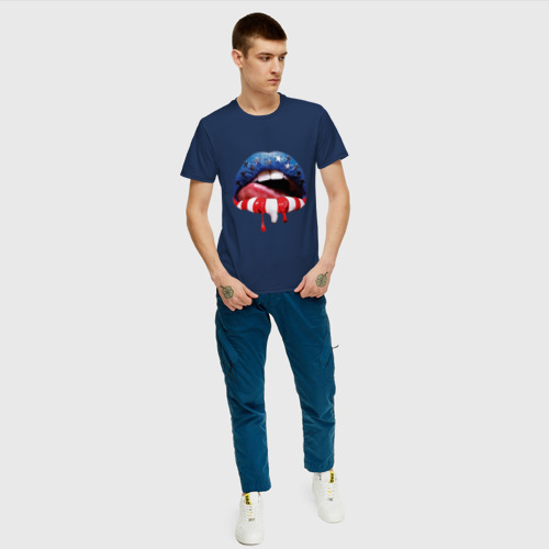 Мужская футболка хлопок American lips Фото 01