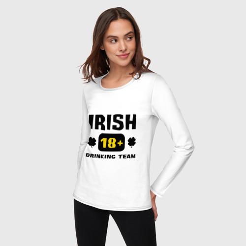 Женский лонгслив хлопок  Фото 03, Irish drinking team