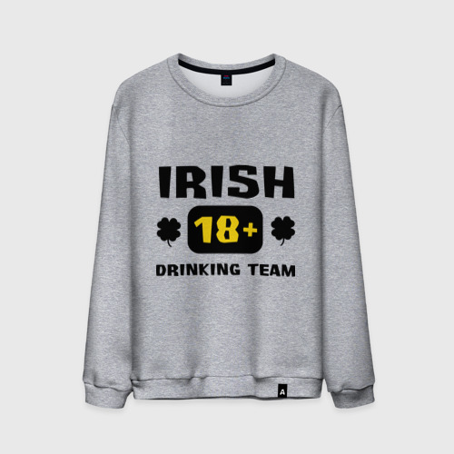 Мужской свитшот хлопок  Фото 01, Irish drinking team