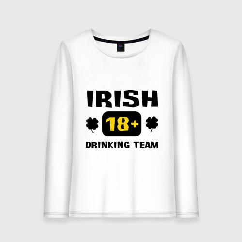 Женский лонгслив хлопок  Фото 01, Irish drinking team