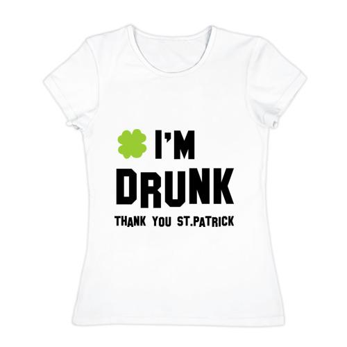 Женская футболка хлопок  Фото 01, Thank you you St.Patrick