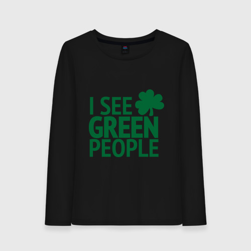 Женский лонгслив хлопок  Фото 01, Green people