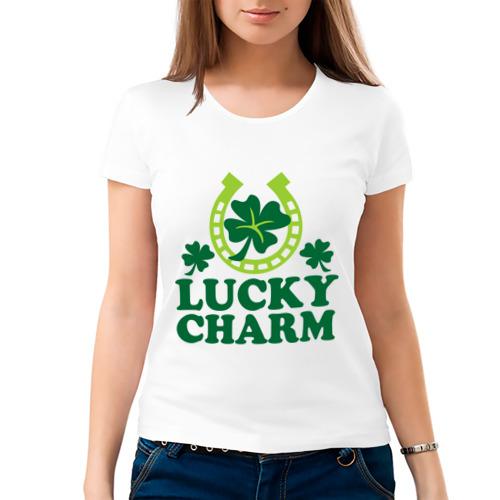 Женская футболка хлопок  Фото 03, Lucky charm - подкова