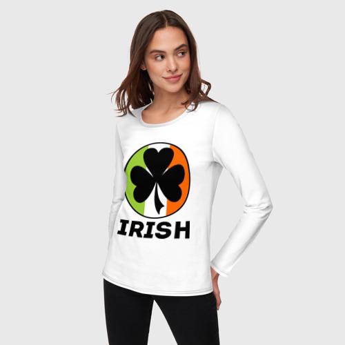 Женский лонгслив хлопок  Фото 03, Irish - цвет флага