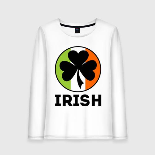 Женский лонгслив хлопок  Фото 01, Irish - цвет флага