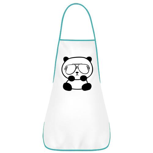 Фартук с кантом панда в очках авиатор