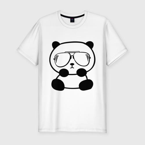Мужская футболка премиум  Фото 01, панда в очках авиатор