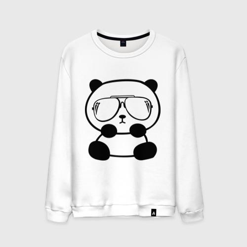 Мужской свитшот хлопок  Фото 01, панда в очках авиатор