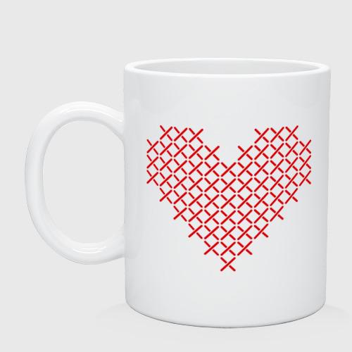 Сердце, вышивка крестиком