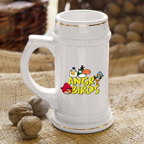 Кружка пивная  Фото 04, Сердитые птицы