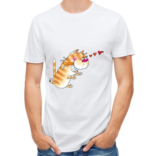 """Мужская футболка синтетическая """"Люблю свою киску"""" - 1"""