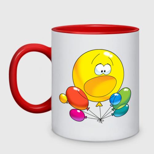 Кружка двухцветная Воздушные шары.