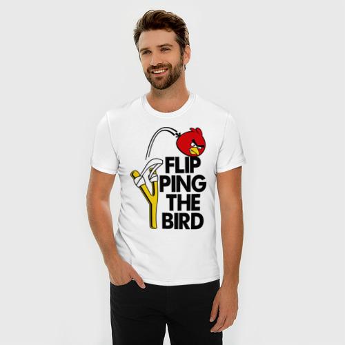 Мужская футболка премиум  Фото 03, Flipping the bird
