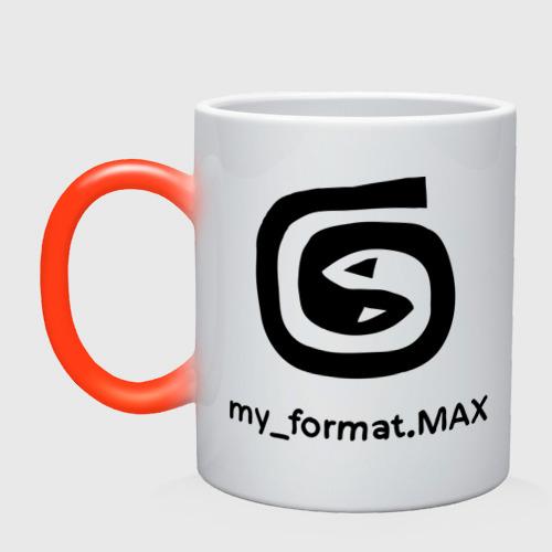 Кружка хамелеон 3D Max