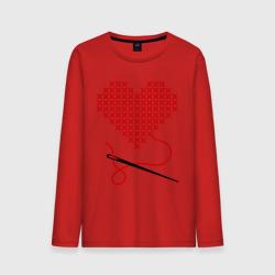 Сердце вышивка с иголкой