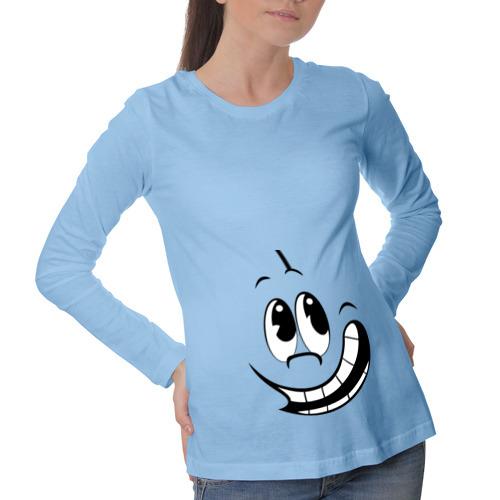 Лонгслив для беременных хлопок Смайл улыбается