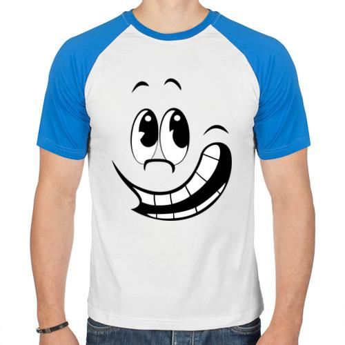 Мужская футболка реглан  Фото 01, Смайл улыбается