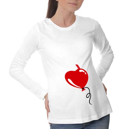 Лонгслив для беременных хлопок Сердце воздушный шар
