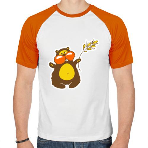 Мужская футболка реглан  Фото 01, Хомячок с колоском пшеницы