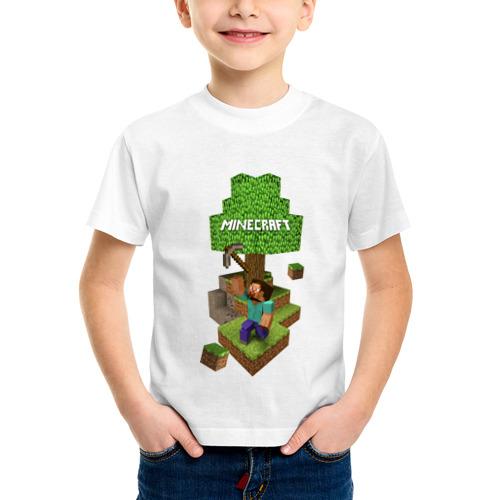 Детская футболка синтетическая Мир из блоков от Всемайки