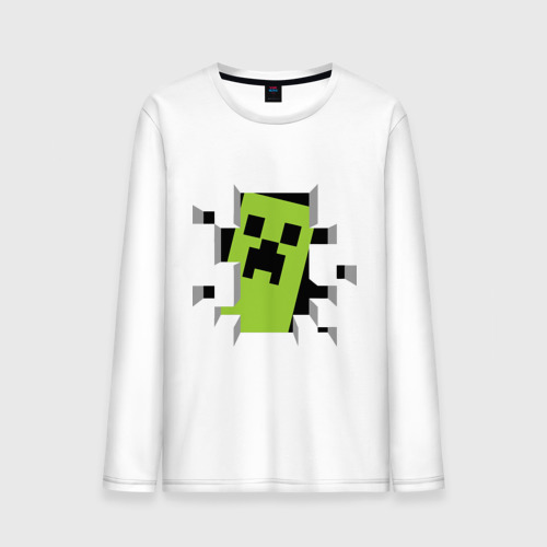 Мужской лонгслив хлопок  Фото 01, Crash Minecraft