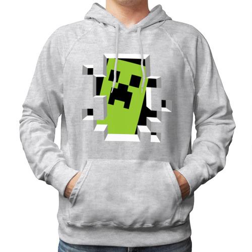 """Мужская толстовка-реглан """"Crash Minecraft"""" - 1"""