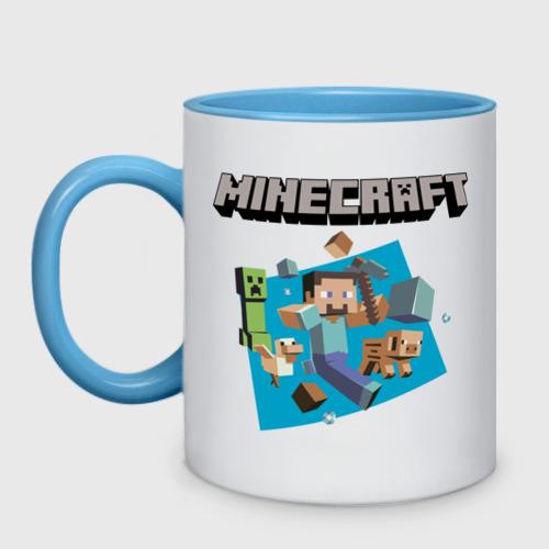 Кружка двухцветная Heroes of Minecraft Фото 01