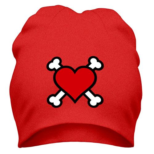 Шапка Сердце пиратское с костями