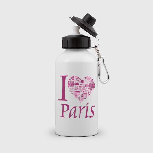 Бутылка спортивная  Фото 01, люблю Париж