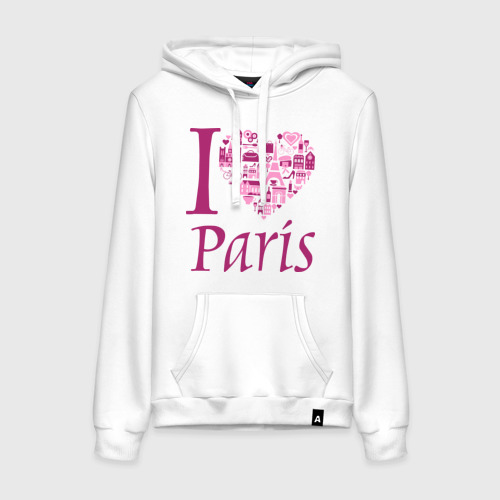 Женская толстовка хлопок  Фото 01, люблю Париж