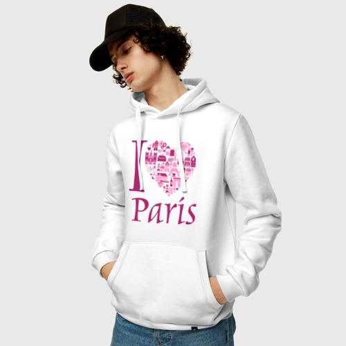Мужская толстовка хлопок  Фото 03, люблю Париж