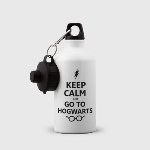 Бутылка спортивная  Фото 03, Keep calm and go to hogwarts.