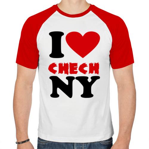 Мужская футболка реглан  Фото 01, Я люблю Чечню