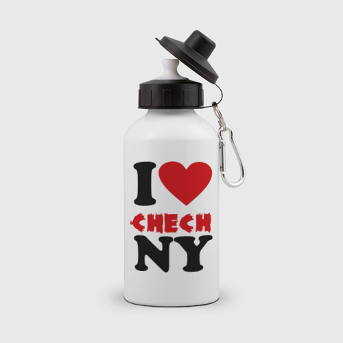 Бутылка спортивная  Фото 01, Я люблю Чечню