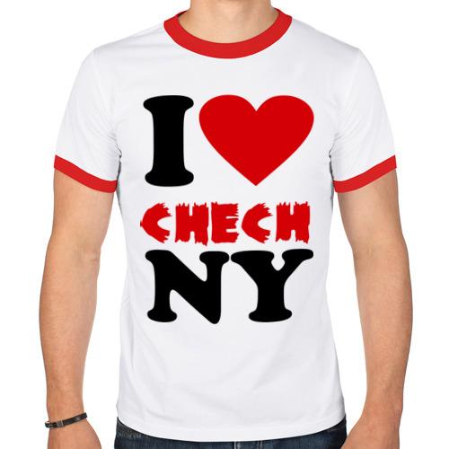 Мужская футболка рингер  Фото 01, Я люблю Чечню