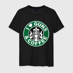 I Love Guns and Coffee пистолеты и кофе