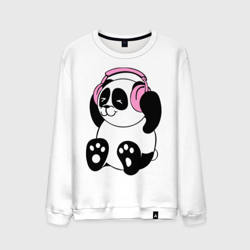 Мужской свитшот хлопок  Фото 01, Panda in headphones (панда в наушниках)