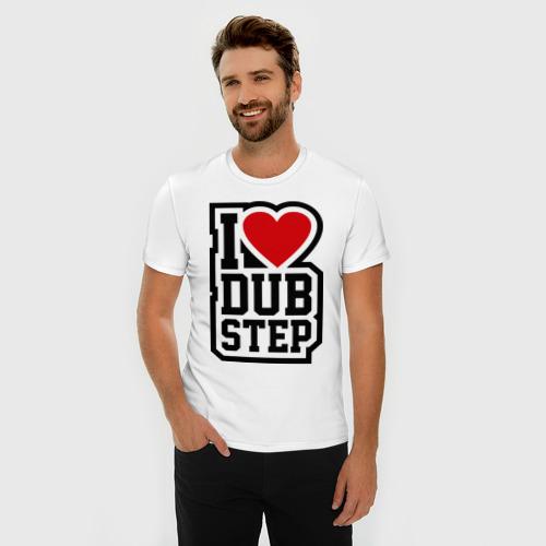 Мужская футболка премиум  Фото 03, I love DubStep