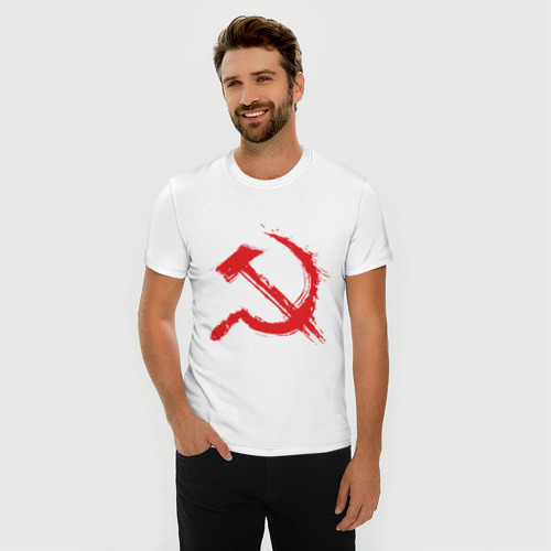 Мужская футболка премиум  Фото 03, Cерп и молот.