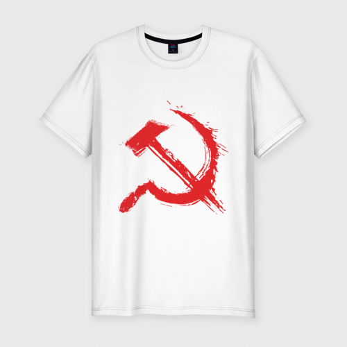 Мужская футболка премиум  Фото 01, Cерп и молот.