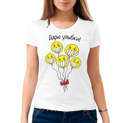 Женская футболка хлопок  Фото 03, Дарю улыбки на шариках