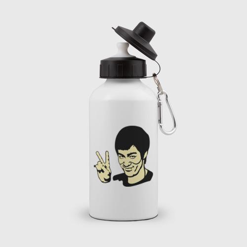 Бутылка спортивная  Фото 01, Позитивный Брюс Ли