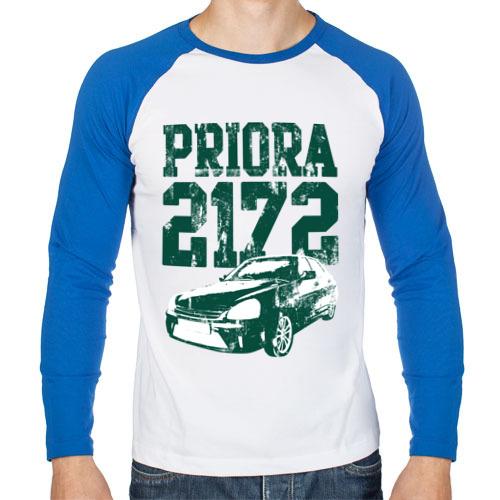 """Мужская футболка-реглан с длинным рукавом """"Lada Priora 2172"""" - 1"""