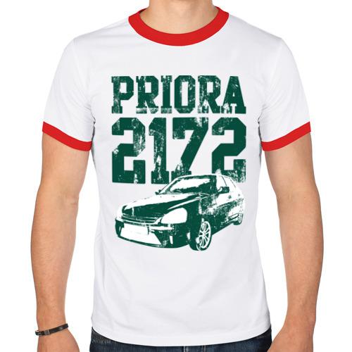 "Мужская футболка-рингер ""Lada Priora 2172"" - 1"