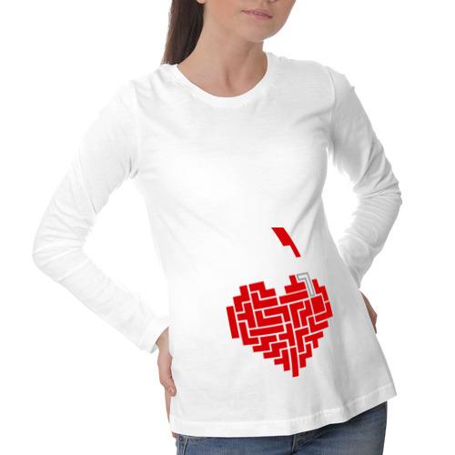 Лонгслив для беременных хлопок Heart tetris сердце тетрис