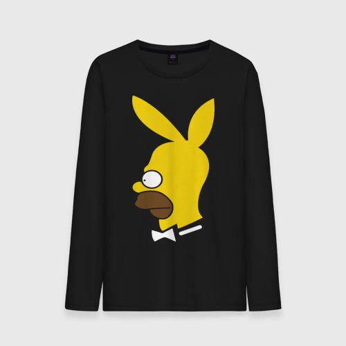 Мужской лонгслив хлопок  Фото 01, Playboy Homer Simpson