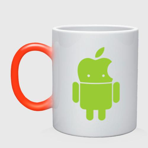 Кружка хамелеон  Фото 01, Android Applehead