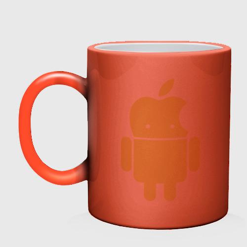 Кружка хамелеон  Фото 02, Android Applehead