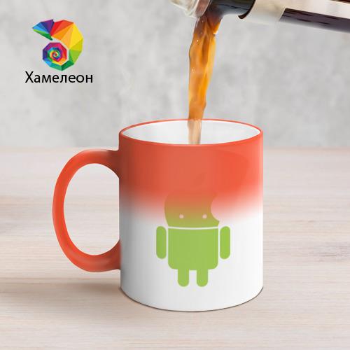 Кружка хамелеон  Фото 05, Android Applehead