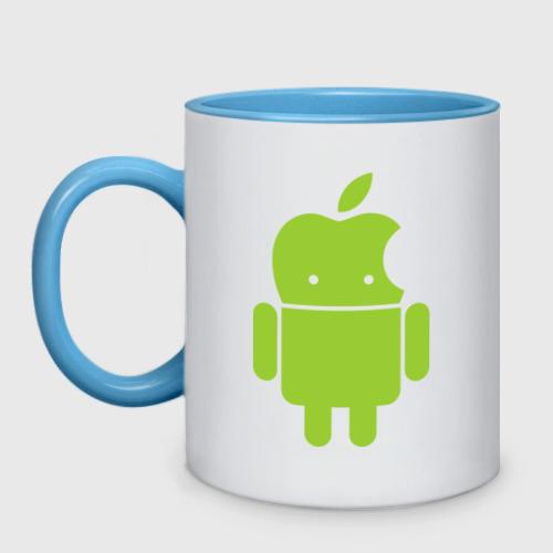 Кружка двухцветная  Фото 01, Android Applehead